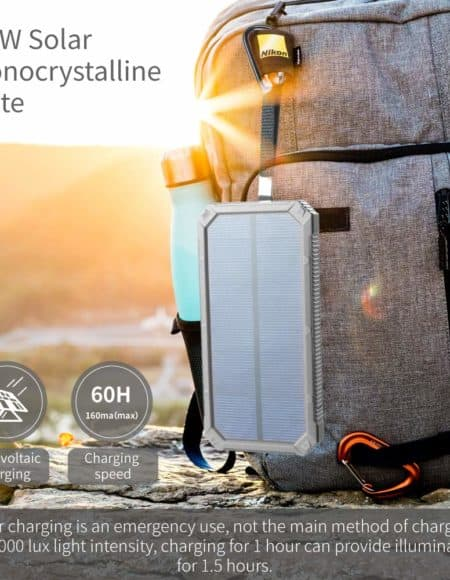 Soluser 15,000mAh Solar Battery Charger