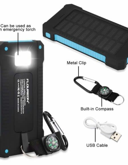 Floureon 10,000nhA Solar Charger
