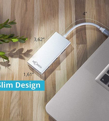 USB C Hub - 3 USB 3.0 Ports Charging Port