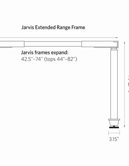 Jarvis Electric Adjustable Height Desk