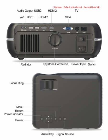 Mini Projector Full HD 1080P Projector