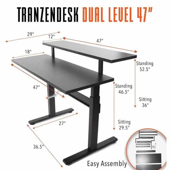 Tranzendesk Dual Level Standing Desk