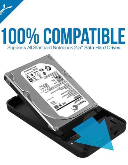 Sabrent 2.5-Inch SATA to USB 3.0 HDD Enclosure