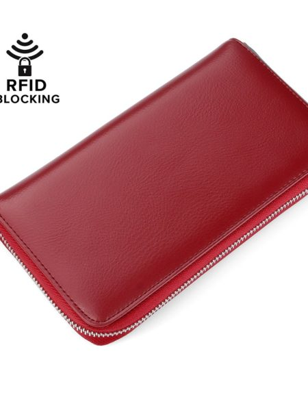 Buvelife Leather RFID Wallet for Women