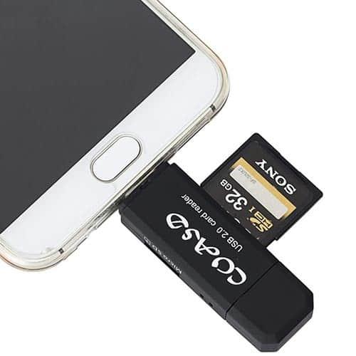 COASD SD Card Reader for Android OTG